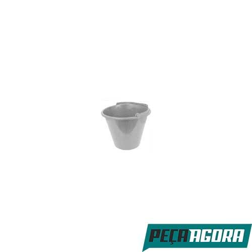 BALDE MAX DE PLASTICO CINZA 12LT 39610 AMR C/ 6 (21302CC)