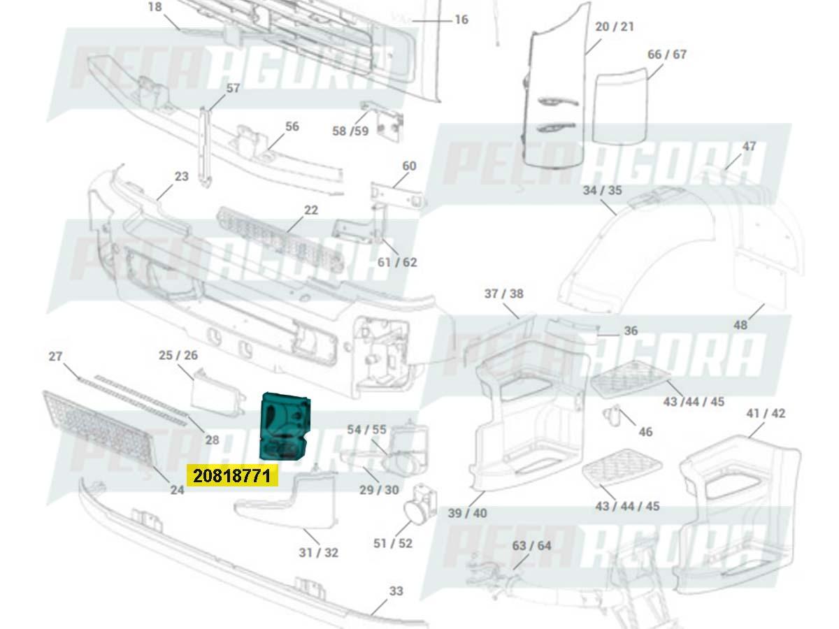 FAROL PRINCIPAL VOLVO VM (03/10) DIREITO (20818771)